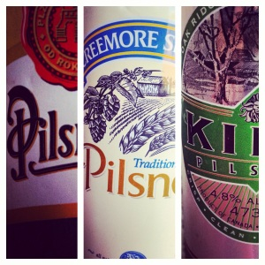 Three Pilsners
